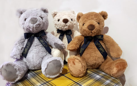 group of three teddies
